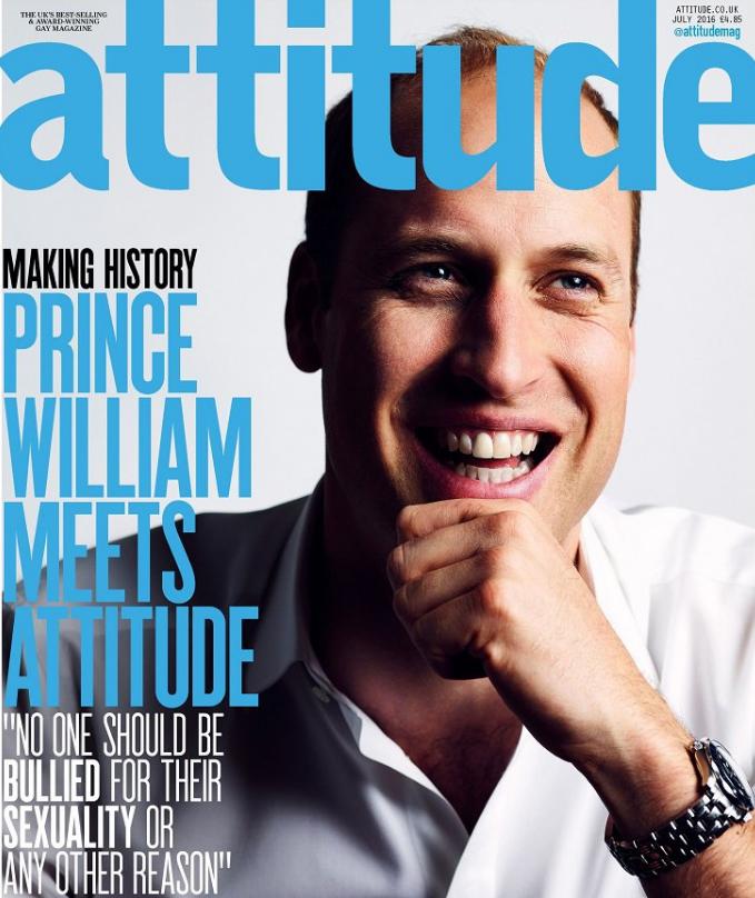 Portada del príncipe William en Attitude