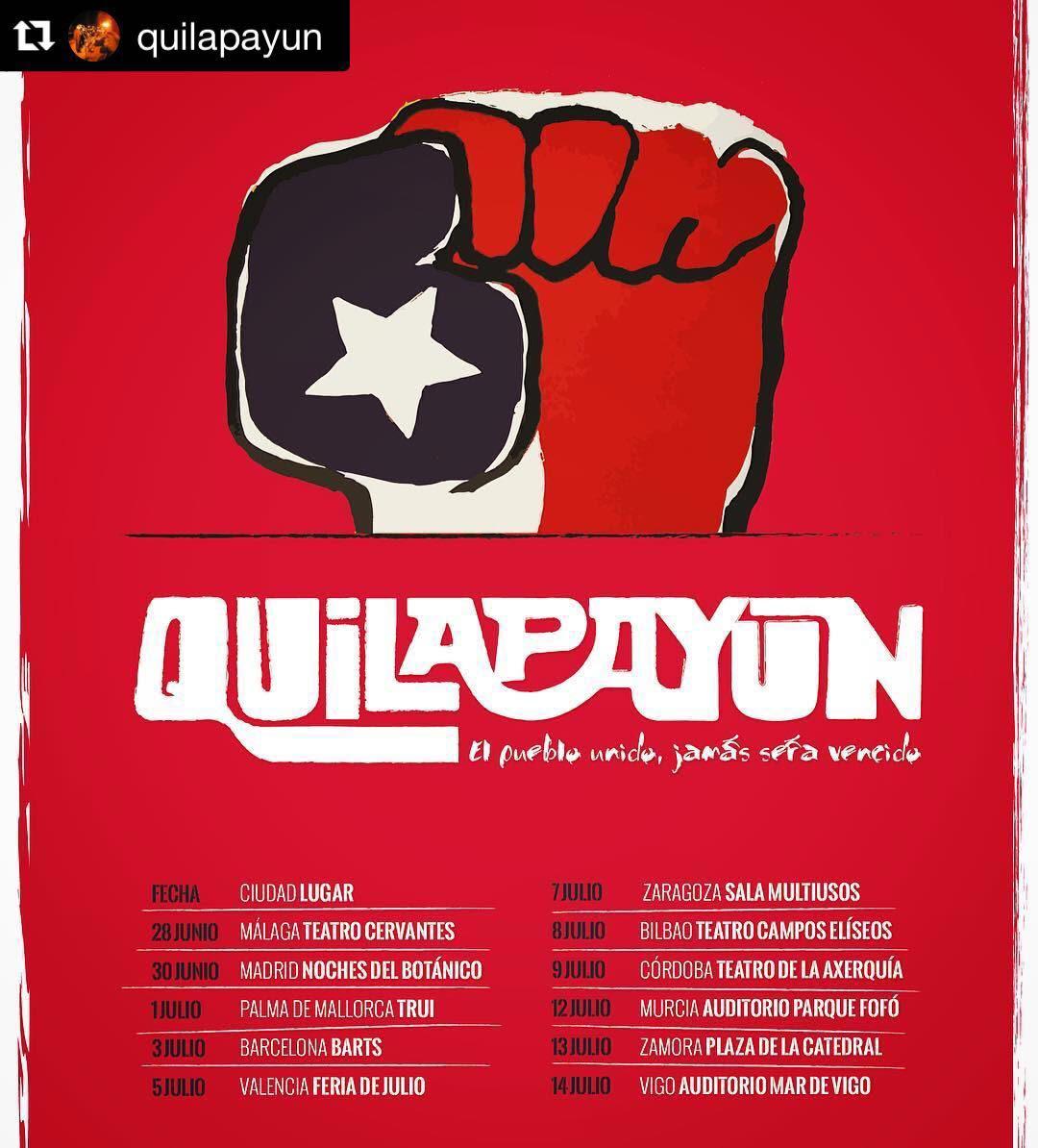Gira por España de Quilapayún