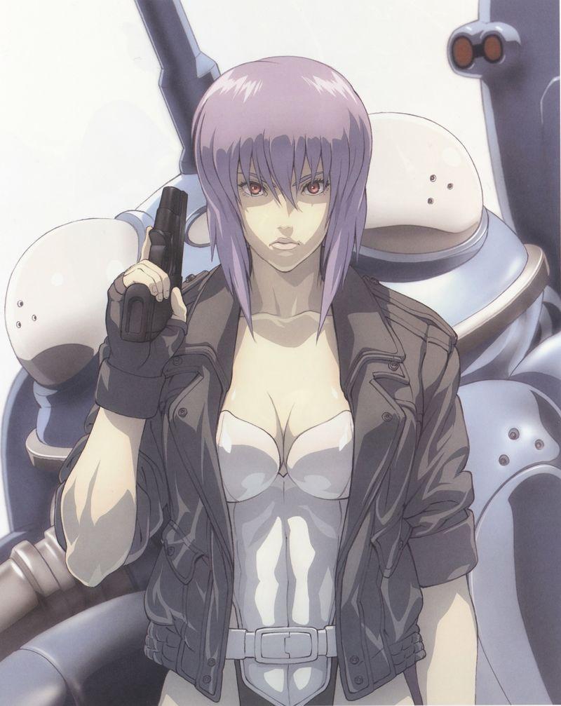 Así es originalmente la mayor Motoko, personaje que interpreta Scarleth Johansson
