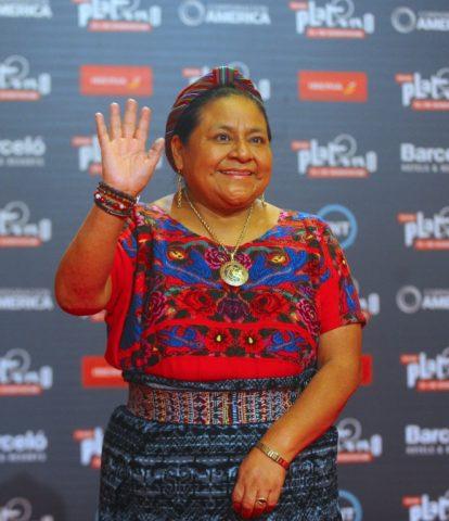 RIgoberta Menchú, líder indígena guatemalteca