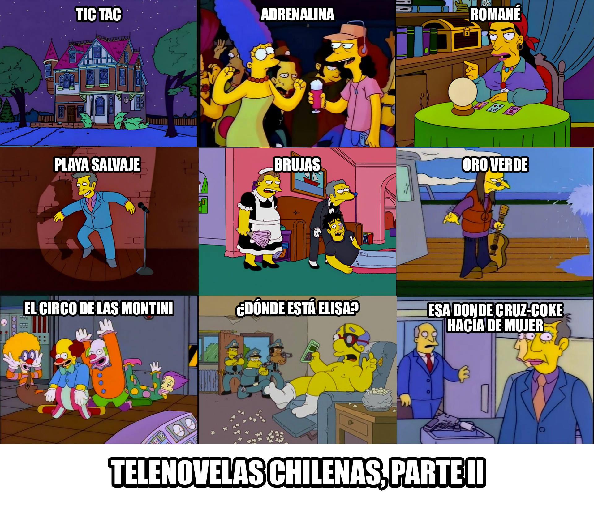 """Fan page """"Los Simpson chilenos""""."""