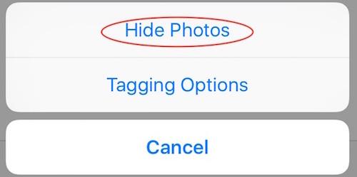 Esconde fotos en las que te han etiquetado
