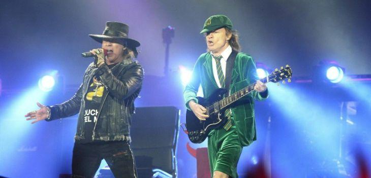 Axl Rose con AC/DC | AFP.