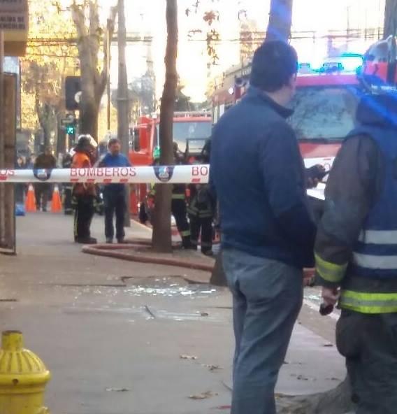 explosion local concepcion bomberos foto de Mireya Labrana