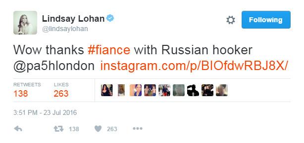 Lindsay Lohan twitter
