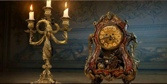 Lumière y Cogsworth en la nueva versión de La Bella y la Bestia