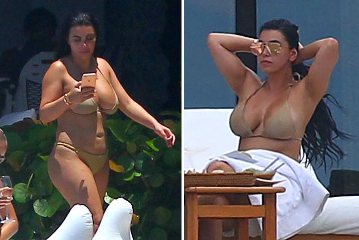 Kim Kardashian consigue una doble para distraer a paparazzis, pero es descubierta