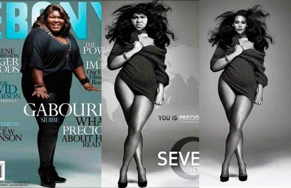 El fotomontaje de Gabourey Sidibe que engañó a sus fans.