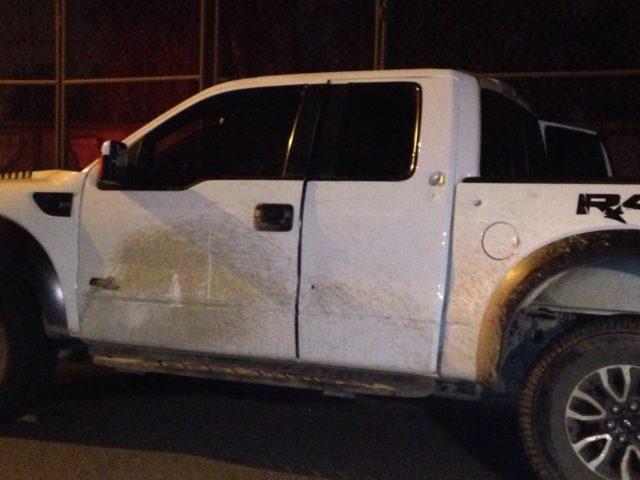 Camioneta utilizada en robo de Mall