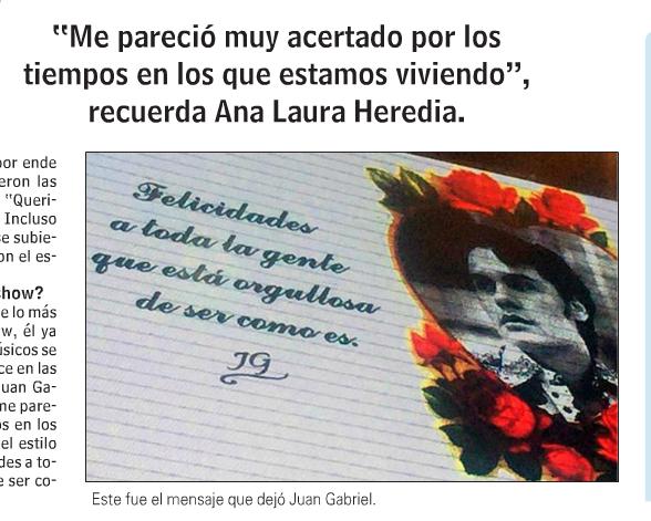 El último mensaje de Juan Gabriel a sus fans