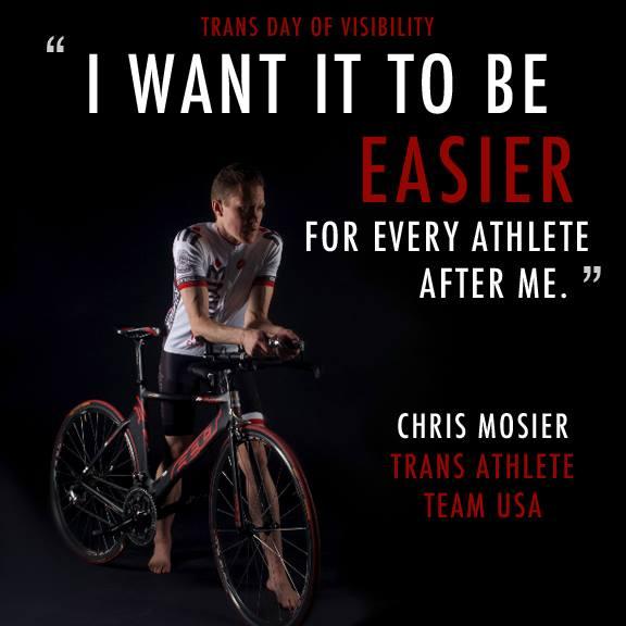 """""""Quiero hacerlo más fácil para cada atleta posterior a mí"""" - Facebook de Chris Mosier"""