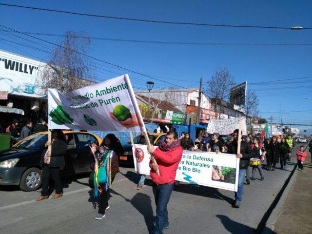 Marcha comunidades en Los Ángeles