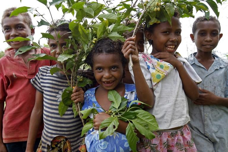 Niñas de Papua Nueva Guinea