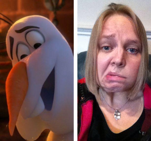 Personaje de Frozen y Hannah Clark
