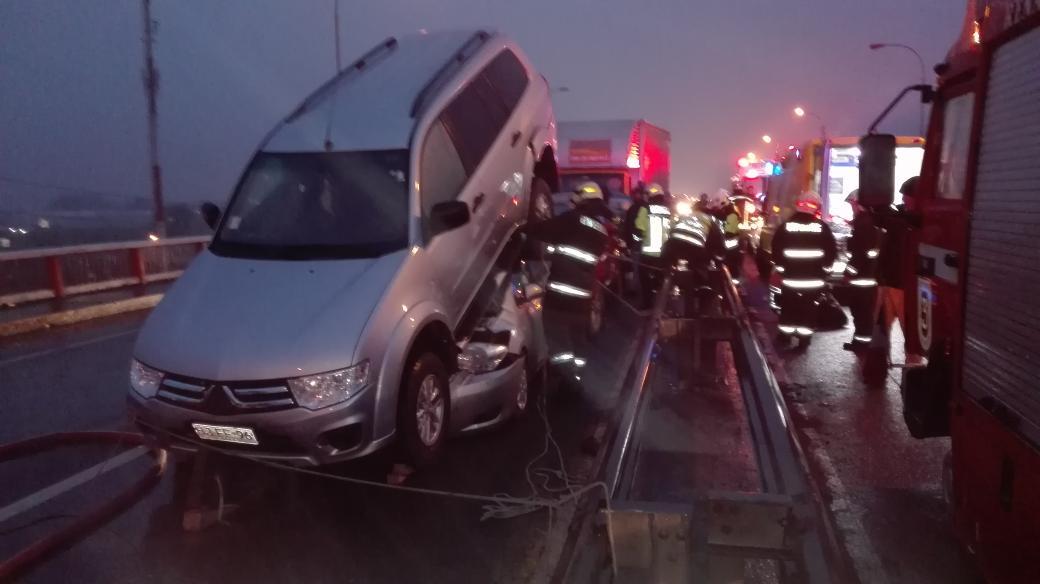 Imagen de colisión múltiple en Concepción