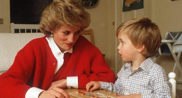 Princesa Diana y Príncipe William   Palacio de Buckingham