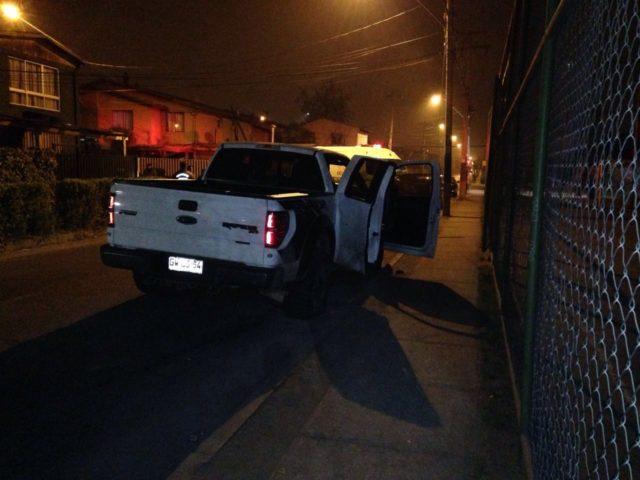 Camioneta involucrada en robo de Mall