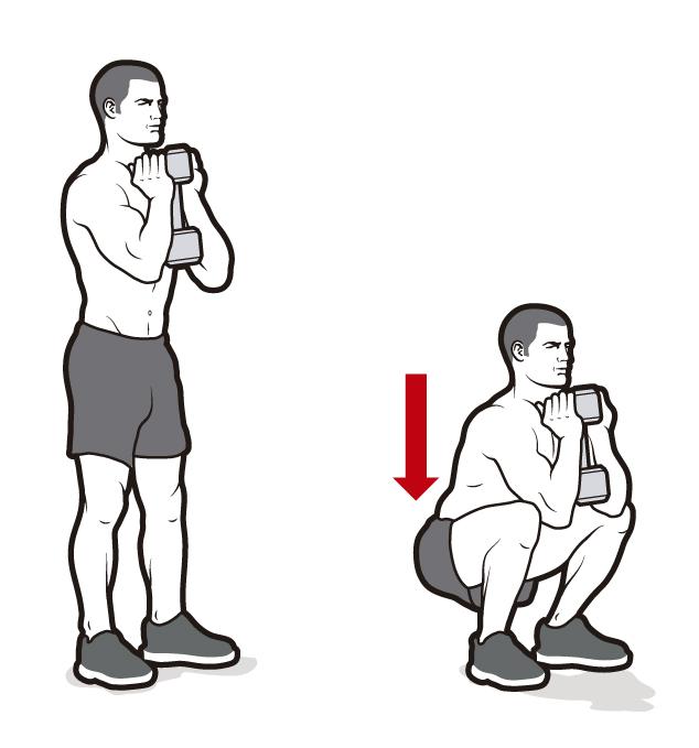 ejercicio con mancuerna