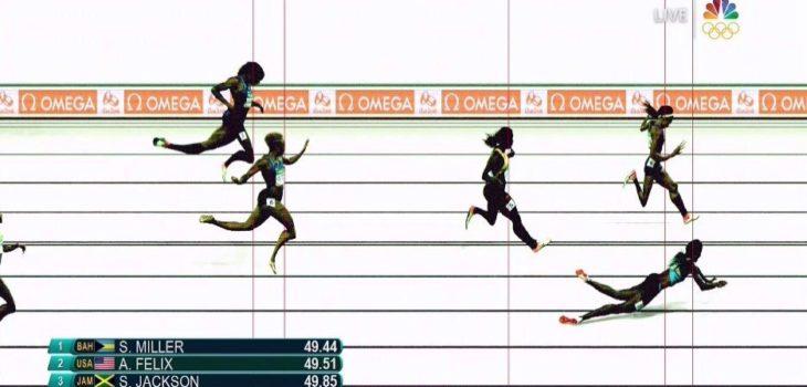 El final de los 400 metros