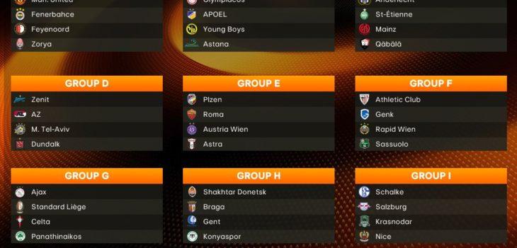 Estos son los doce grupos para la edición 2016-2017 de la UEFA Europa League