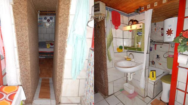 """Habitación construida por Fritzl para su """"segunda familia"""""""