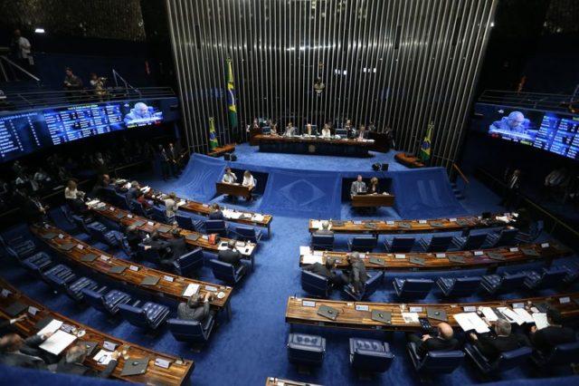 Senado brasileño en tercer día de juicio político contra Dilma Rousseff.