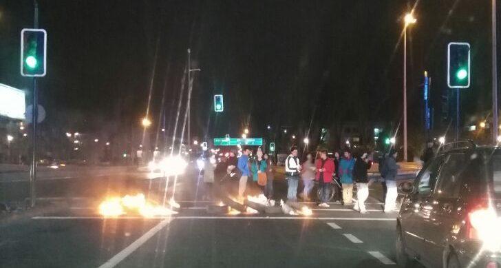 Barricadas en Paicaví, Concepción | Sergio Osses RBB)