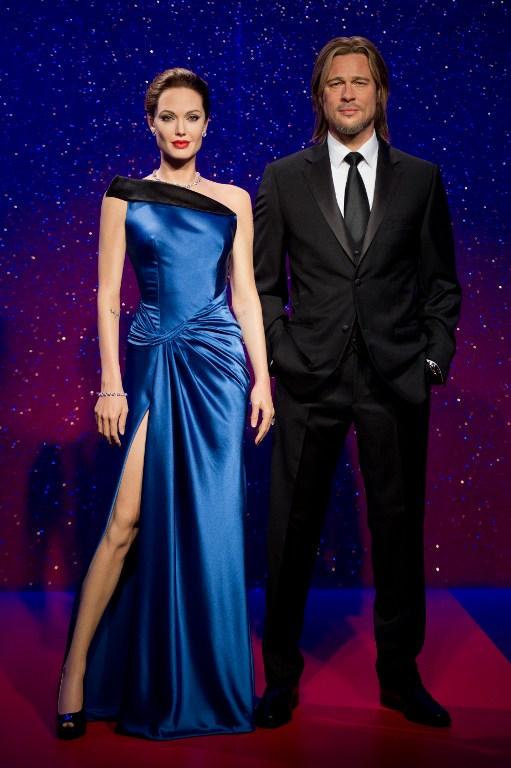 Angelia Jolie y Brad Pitt en el museo de cera de Londres, Madame Tussauds