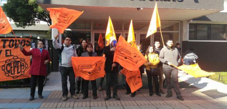 Osorno: por la vereda marcharon funcionarios y estudiantes de Universidad Santo Tomás