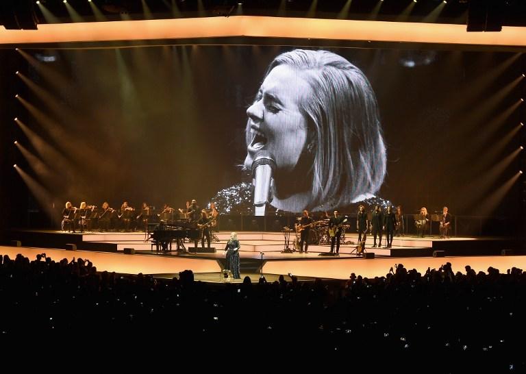 La cantante británica Adele en concierto
