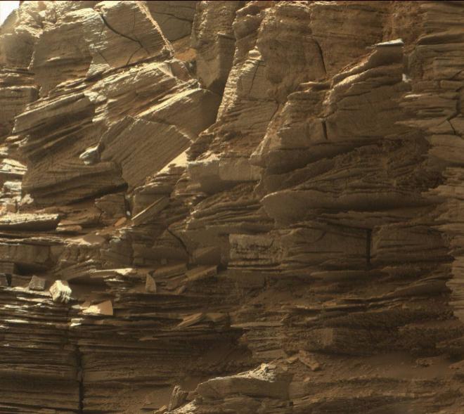 Formaciones rocosas que registró el Curiisity