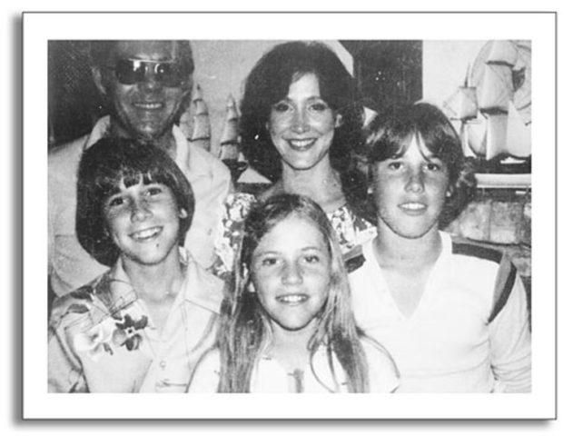 Nicholas Sparks y su familia