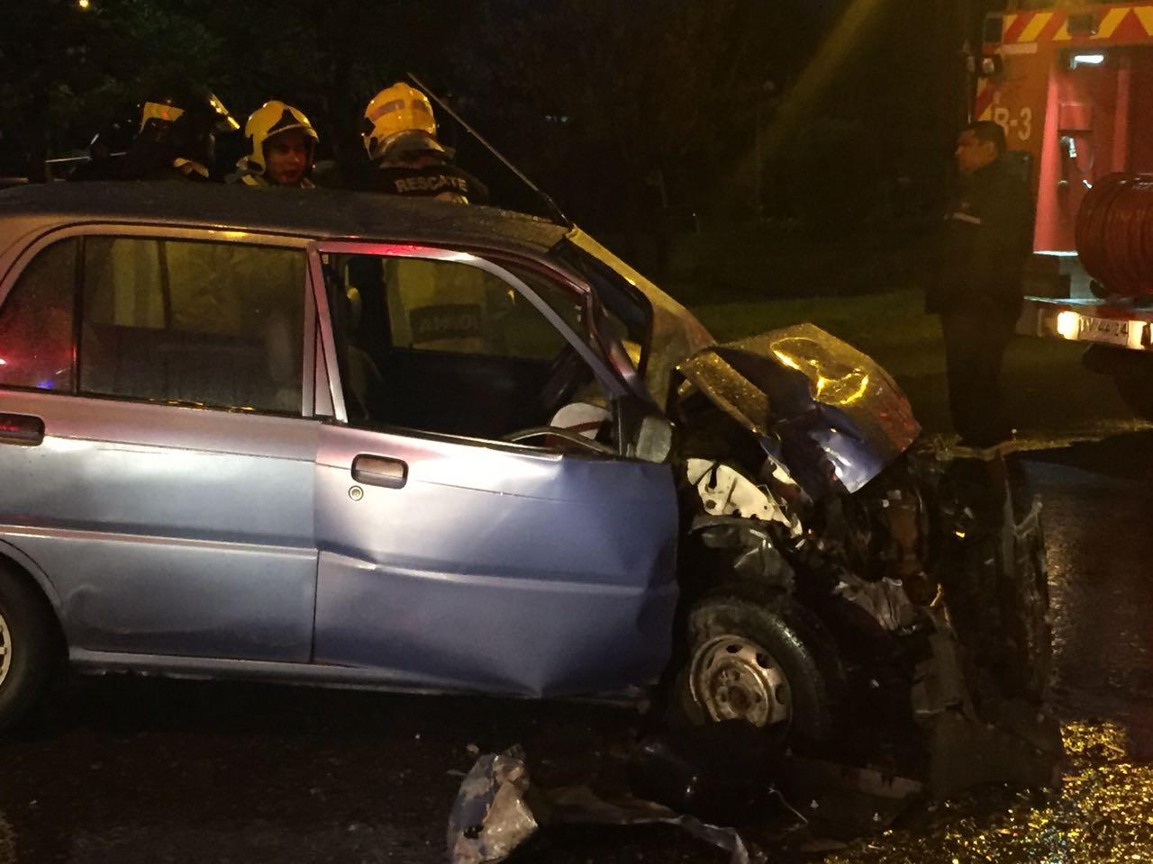 Dos personas resultaron lesionadas tras accidente de tránsito ocurrido esta mañana en Angol