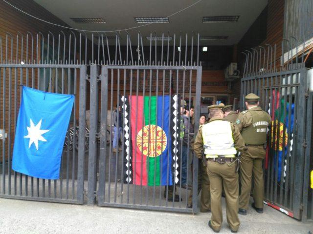 Comunidad mapuche de Galvarino se toma las dependencias de la Conadi Nacional en Temuco