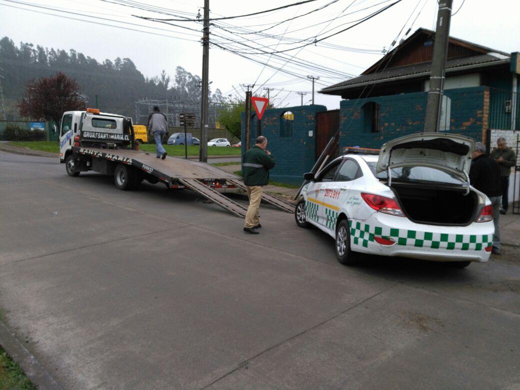 Vehículo municipal de Temuco protagonizó accidente de tránsito