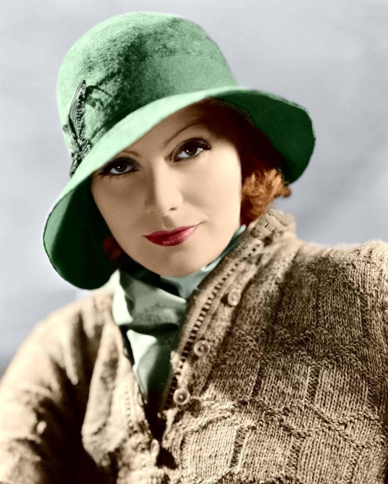 Greta Garbo usaba labial rojo