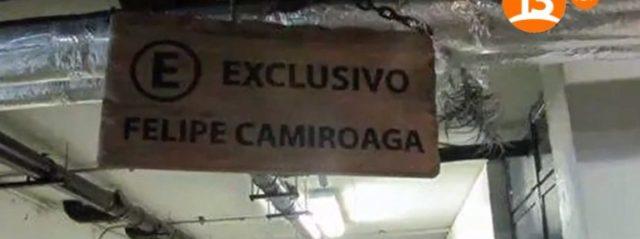 Ex estacionamiento de Felipe Camiroaga en TVN| Captura Canal-13