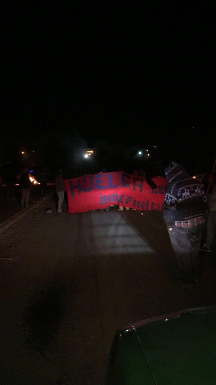 Protesta en Mejillones