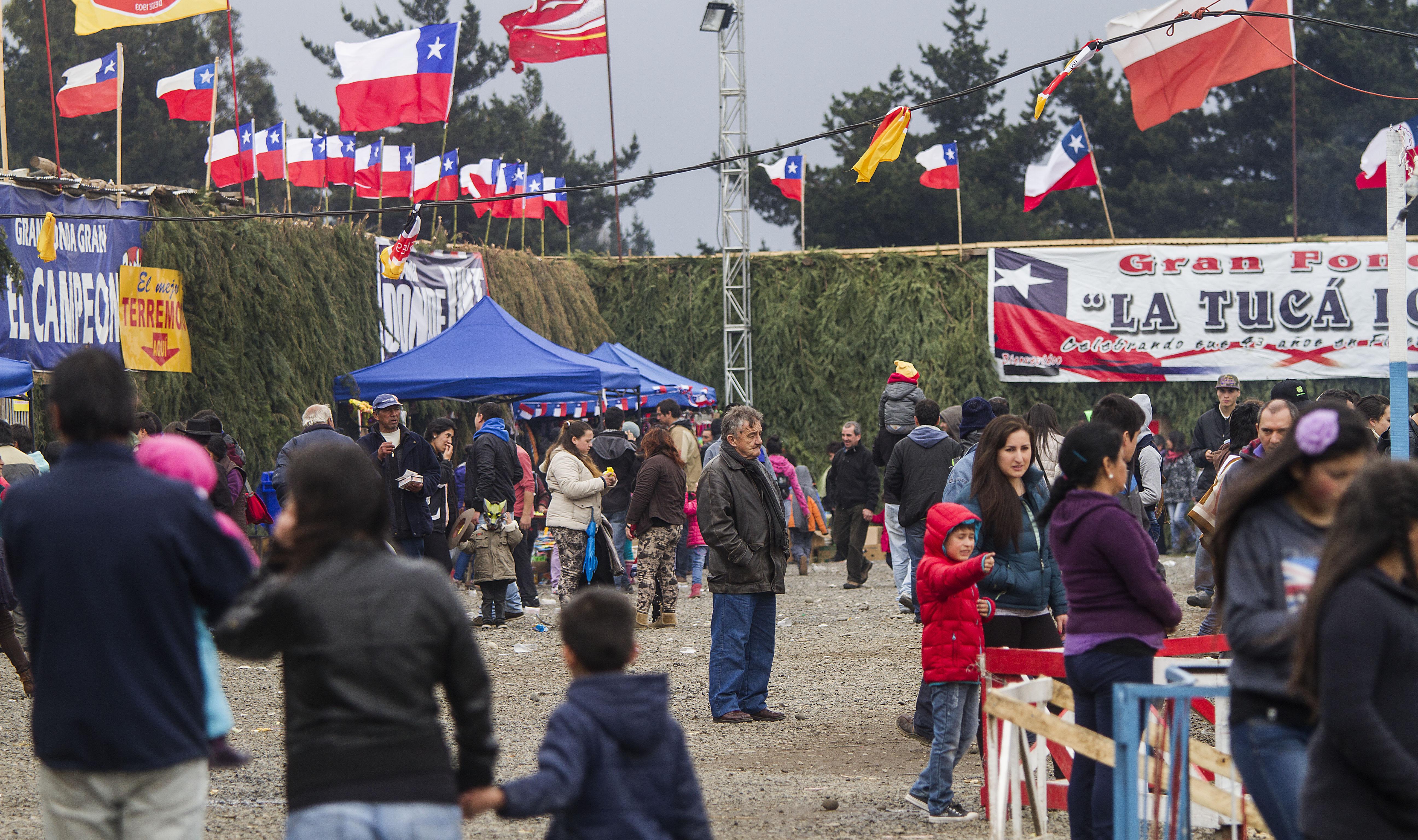 Celebraciones de fiestas patrias en Temuco