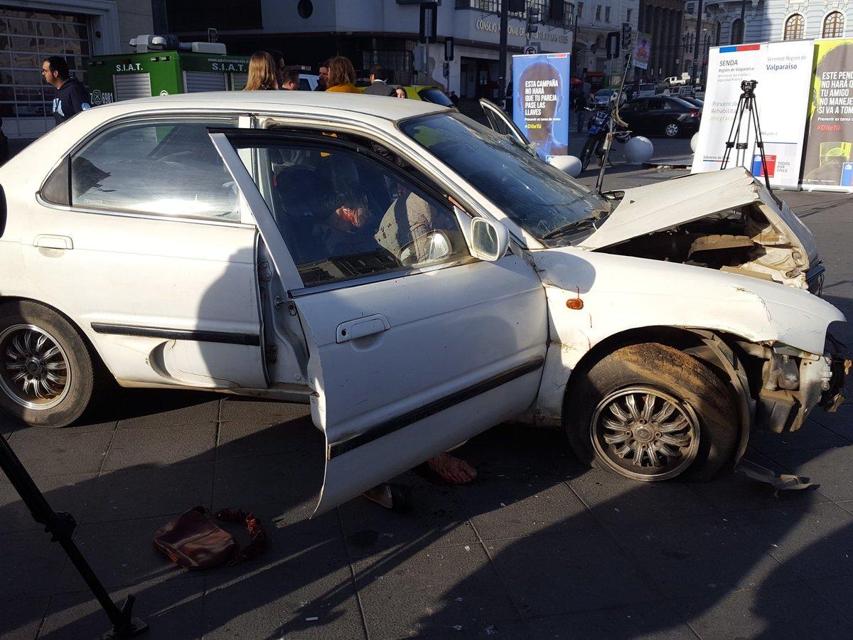 Recreación de un accidente de tránsito con consecuencias fatales
