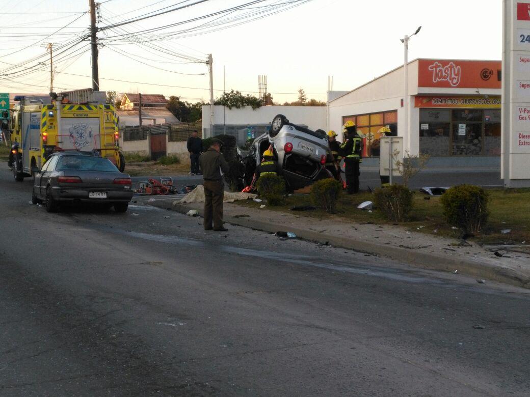 Accidente de tránsito en Quilpué con dos fallecidos.
