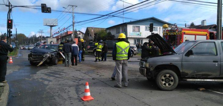 Mujer embarazada resultó lesionada tras accidente de tránsito en Osorno