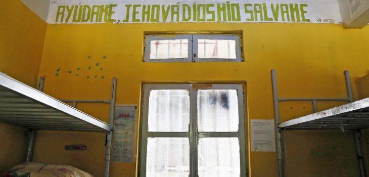 Interior de una antigua celda del penal El Manzano de Concepción.