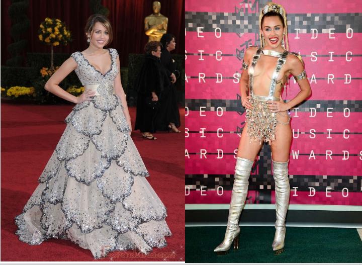 Miley Cyrus 2009 y en 2015