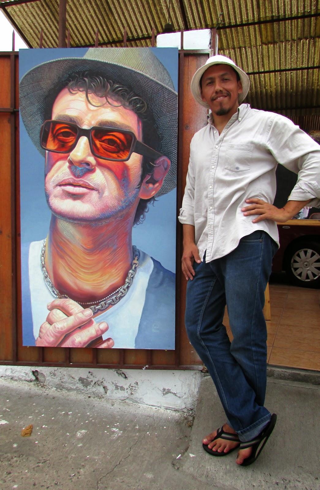 La exposición de Manuel Berrios sobre Gustavo Cerati.