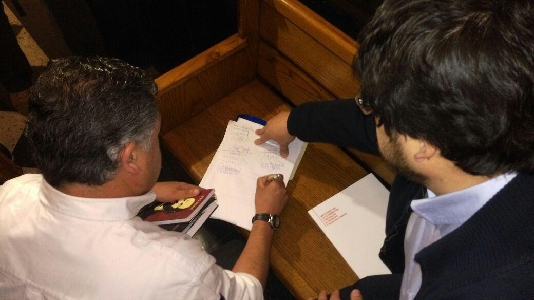 Nolberto Díaz impugnando las elecciones de la CUT en el Tribunal Electoral.
