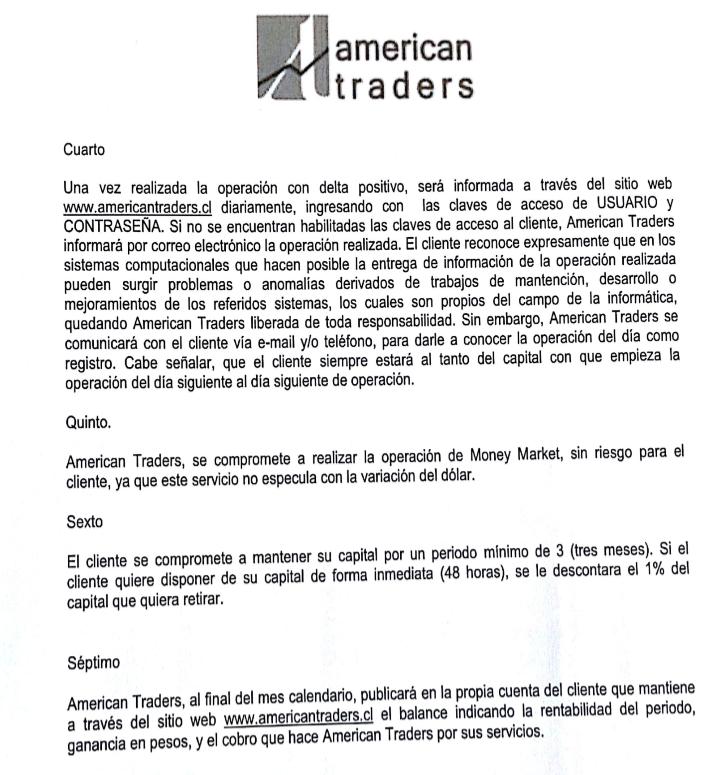 Contrato American Traders
