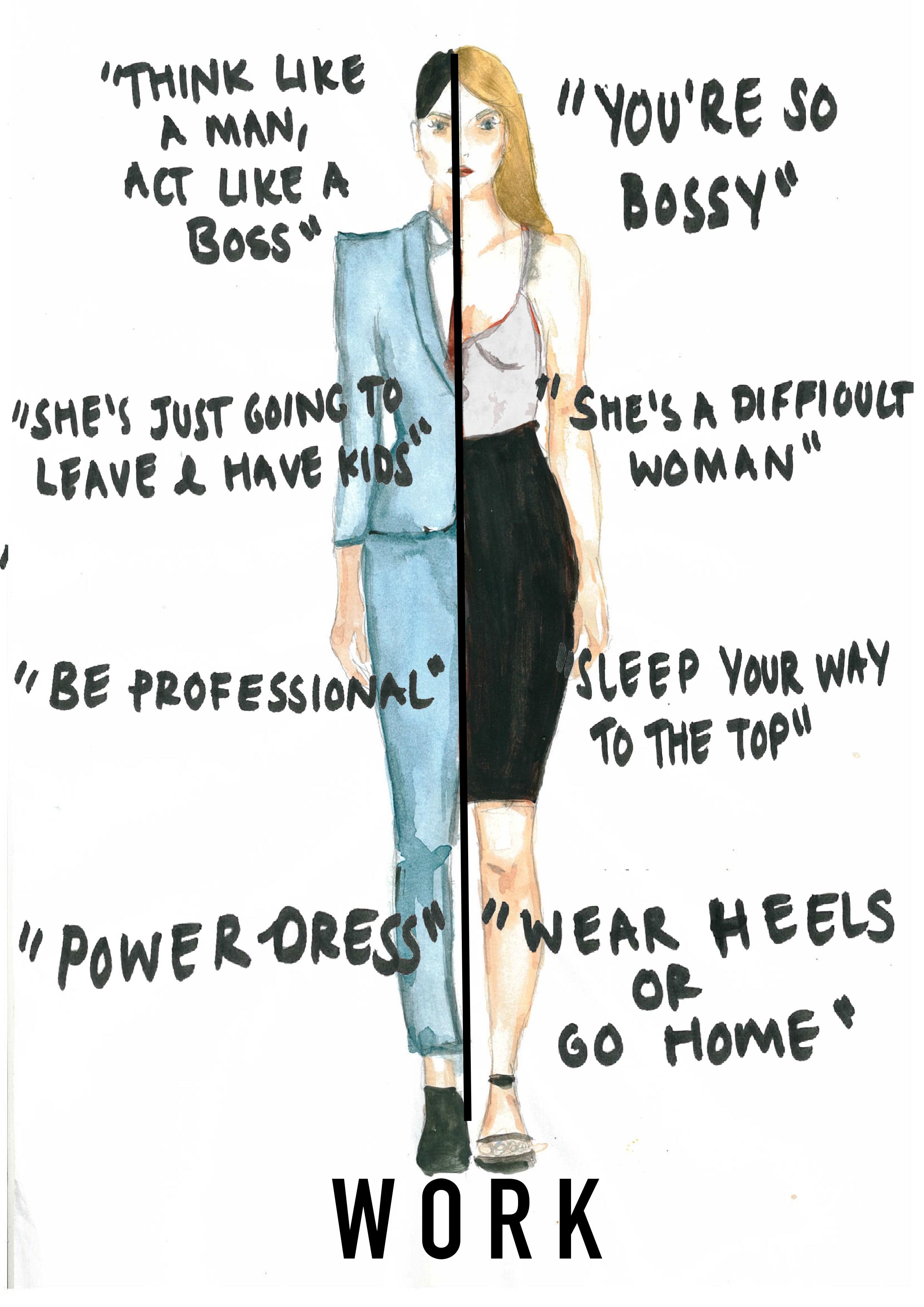 Potentes ilustraciones muestran los ridículos prejuicios que las mujeres afrontan a diario