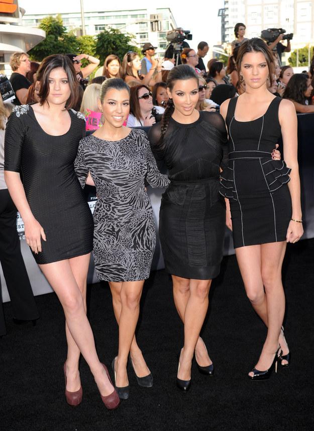 Kylie, Kourtney, Kim y Kendall en 2010