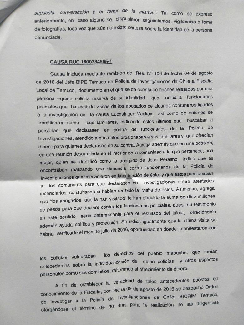 Caso Luchsinger: Indagan presuntos pagos para fabricar testimonios contra fiscales y policías